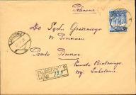 1939 - Agencja Jaszuny 2 (Wilno) - polecony
