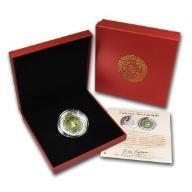 Laos 2013 - 2000 KIP Lunar Rok Węża Jadeit 2oz *3*