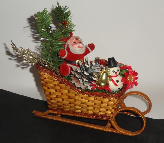 Święta mikołaj sanie bałwanek ozdoba świąteczna 24