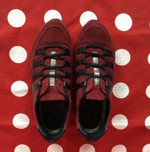 ECCO buty sportowe skóra zamsz rozmiar 37 bordowe