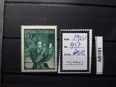 AUSTRIA - 1950 rok - 957**