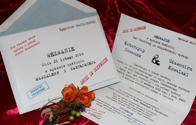 Zaproszenia Na ślub Zawiadomienia ślubne Wezwanie 6066183786