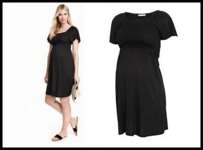 472f0334ea H M MAMA sukienka ciążowa czarna r. L 40 - 6393120970 - oficjalne ...