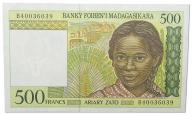 22.Madagaskar, 500 Franków 1994, P.75, St.1-