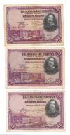 Hiszpania 3x 50 peset 1928  wyprzedaż kolekcji