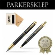 Zestaw Parker pióro + długopis IM Czarny GT 107UP