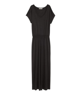 9cb29d5922 H M sukienka czarna długa maxi 38 M - 6680853894 - oficjalne ...