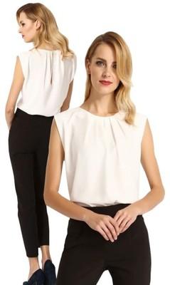 Elegancka szyfonowa bluzka ecru