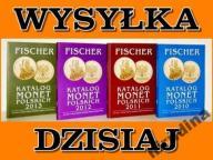 KATALOG MONET POLSKICH ZESTAW 4 ROCZNIKÓW FISCHER