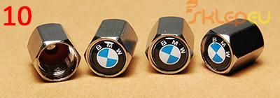 10 BMW METALOWE NAKRĘTKI NA WENTYLE Z LOGO JAKOŚĆ