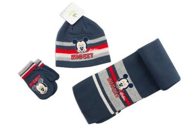Komplet MICKEY MOUSE czapka szalik rękawiczki   48