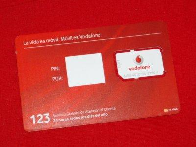 Karta Sim Niewylamana Vodafone Hiszpania 6149185384