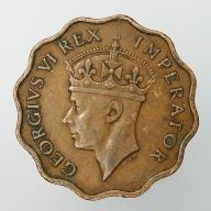 1945 Cypr brytyjski Jerzy VI - piastr