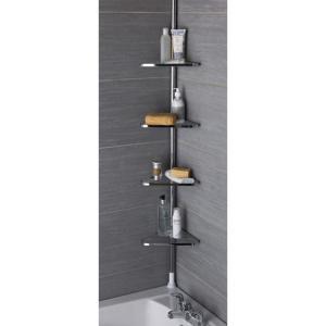 Półki łazienkowe Pod Prysznic Chrom Stal M1