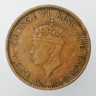 1945 Cejlon brytyjski Jerzy VI - cent