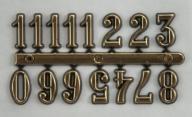 Cyfry arabskie złote 15 mm do zegara