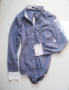 Body koszula niebieska hm paski reserved S 36