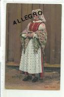 Typy polskie. Kobieta, strój ludowy.
