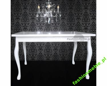 Poważnie Stół STYLOWY biały wysoki połysk 140x80 Producent - 6270577509 ZJ76