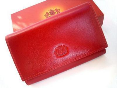 4477d48470773 skórzany portfel damski BARTEX 15/1 skóra czerwony - 3883319983 ...