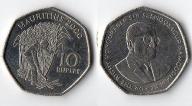 MAURITIUS 10 RUPEES 2000