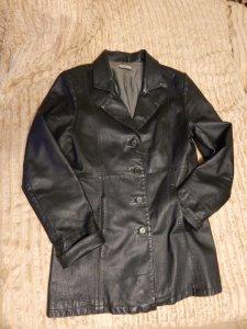 kurtka skóra naturalna czarna 42