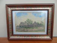 Tenczyn - J.Bonk - 1915 rok - stary dom - pastele
