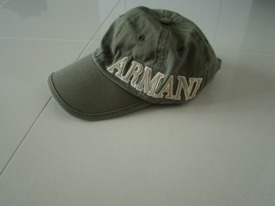 Czapka z daszkiem Armani khaki