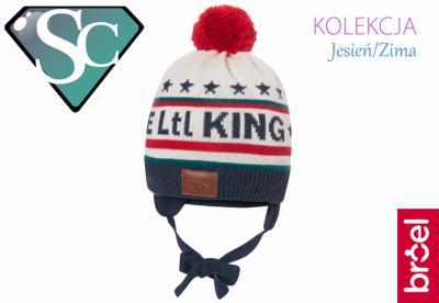 1a4e8b108 BROEL KING KNIT czapka z pomponem chłopiec 39/41 - 5686599369 ...