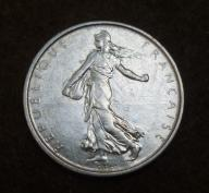 5 franków 1962 SREBRO 12g FRANCJA ! piekna ! BCM