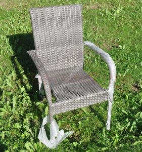Meble Ogrodowe Szare Krzeslo Fotel Rattan Ratan 6403445935