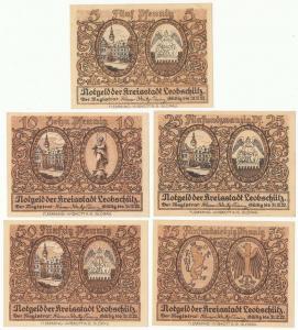176. Leobschutz  5, 10, 25, 50, 75pf, st.1, 1/1-