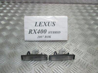 LAMPKA TABLICY REJESTRACYJNEJ LEXUS RX400 2007