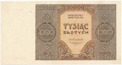 2331. 1.000 zł 1945 Mił.120a - Ser. A - st.1-