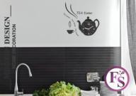 * Kuchenny zegar ścienny TEA TIME - 34 kolory