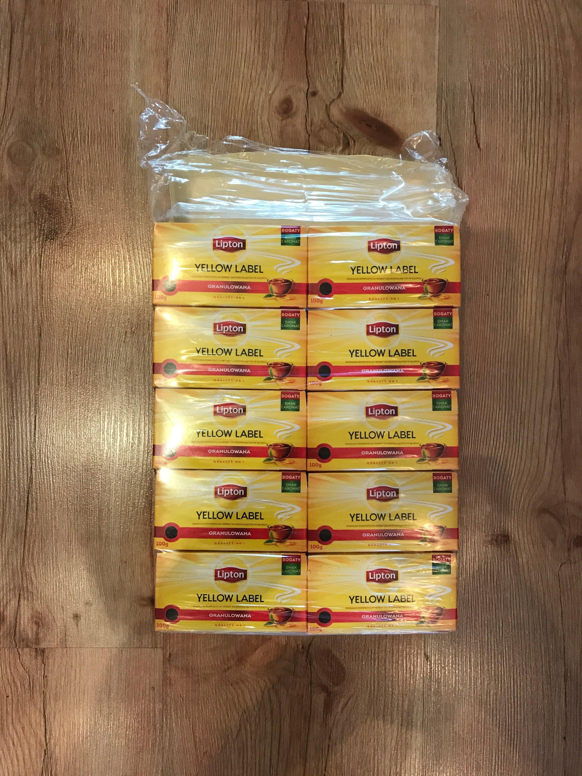 10 herbat Lipton Yellow Label granulowana 100 g