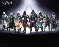 Assassins Creed Characters - plakat 40x50 cm