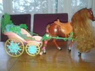 Kareta dla barbie + koń