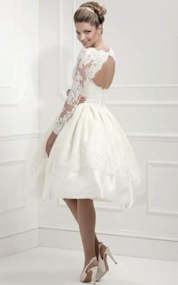 Suknia ślubna Sukienka Krótka Retro Cywilny 6686580034 Oficjalne