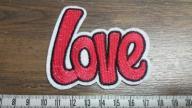 Aplikacja termo LOVE żelazko naszywka