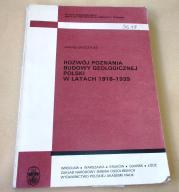ROZWÓJ POZNANIA BUDOWY GEOLOGICZNEJ POLSKI 1918-39