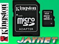 KINGSTON 4GB micro SDHC 4 GB Class 4 microSD +a SD