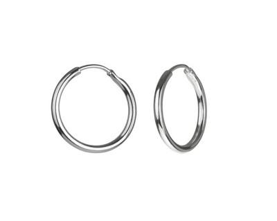 Kolczyki koła kółka grube srebrne DUŻE | Sklep z biżuterią