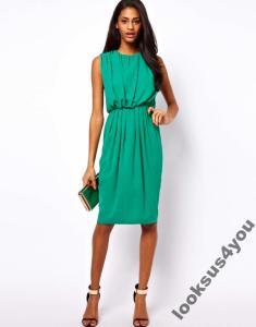 be3980c82a Sukienka ASOS 36 midi ZIELONA + GRATIS PL - 4245291604 - oficjalne ...