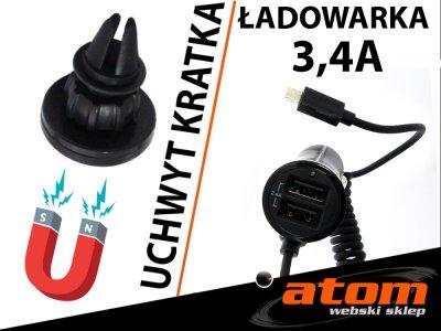 Uchwyt + Ładowarka LG K3 /K10 K4 LTE /G5 /K8 4G