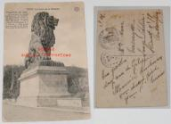Stara poczt. - Le Lion de la Gileppe, Pomnik, Lew