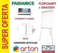 FLIPCHART 2x3 BLOK MARKERY GĄBKA KURIER GRATIS HIT