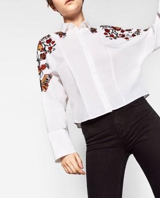 koszula zara damska z haftem