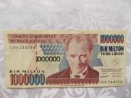 TURCJA 1000000 LIRASI 1995 r. St. ( 3 )