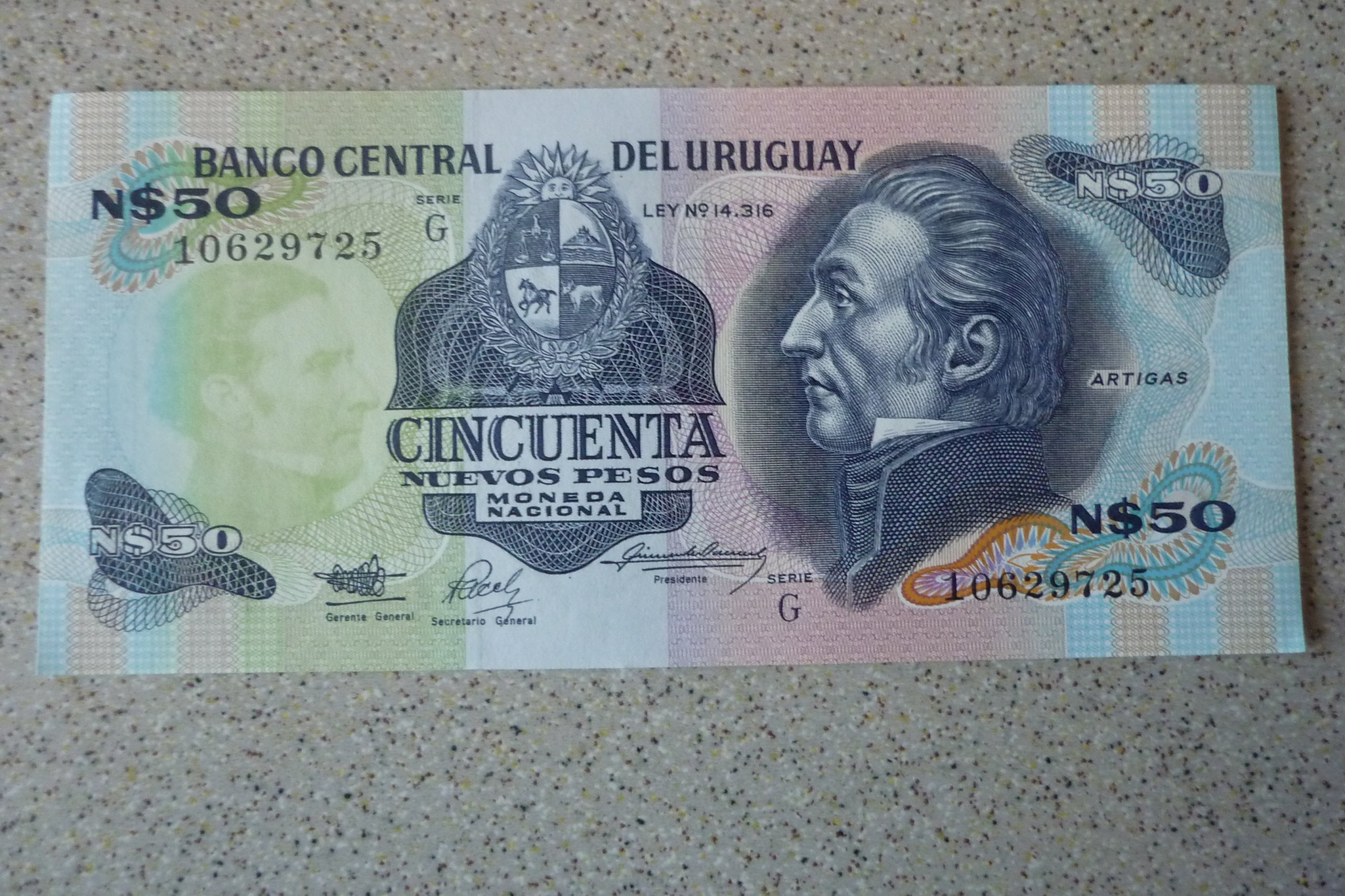 PeruUrugwaj - 50 pesos.